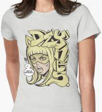 Dzynes must be destroyed! (yellow) Womens Fitted T-Shirt