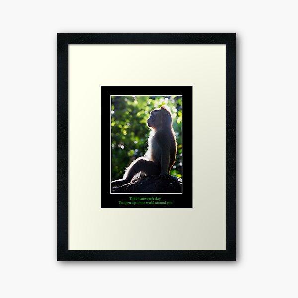Take time each day Framed Art Print