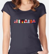 WORLD HETALIA FLAGS Women's Fitted Scoop T-Shirt
