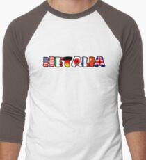 WORLD HETALIA FLAGS Men's Baseball ¾ T-Shirt