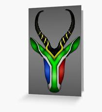 Springbok Flag Greeting Card