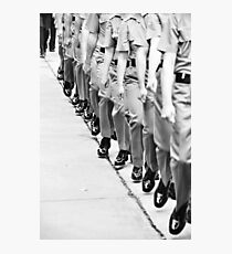 marching feet Photographic Print