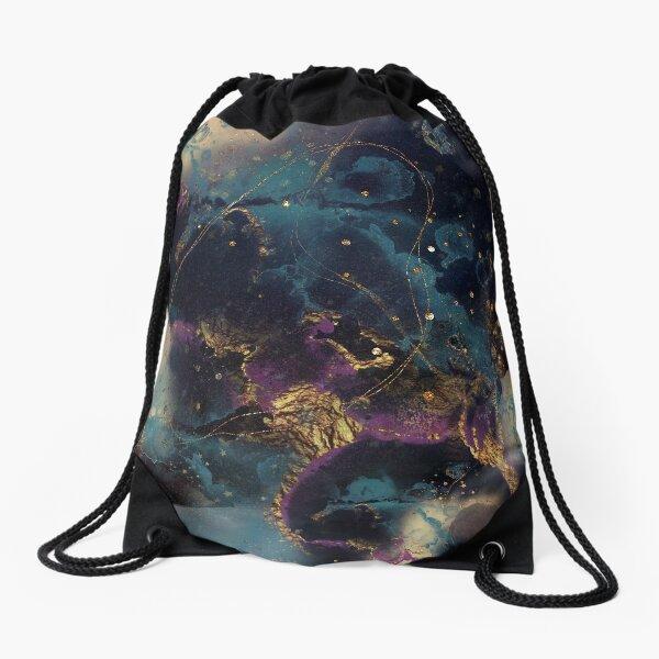 Abstract stardust galaxy Drawstring Bag