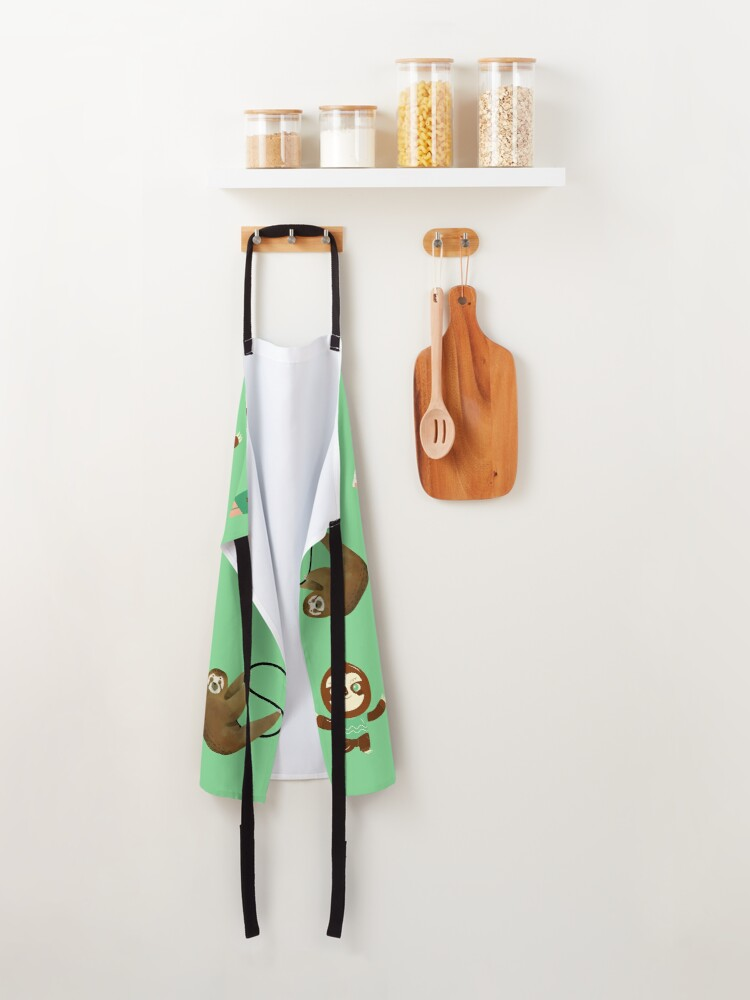 Alternate view of Abstract sloth mix Apron