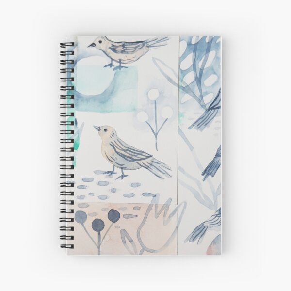 Peaceful birds collage Spiral Notebook