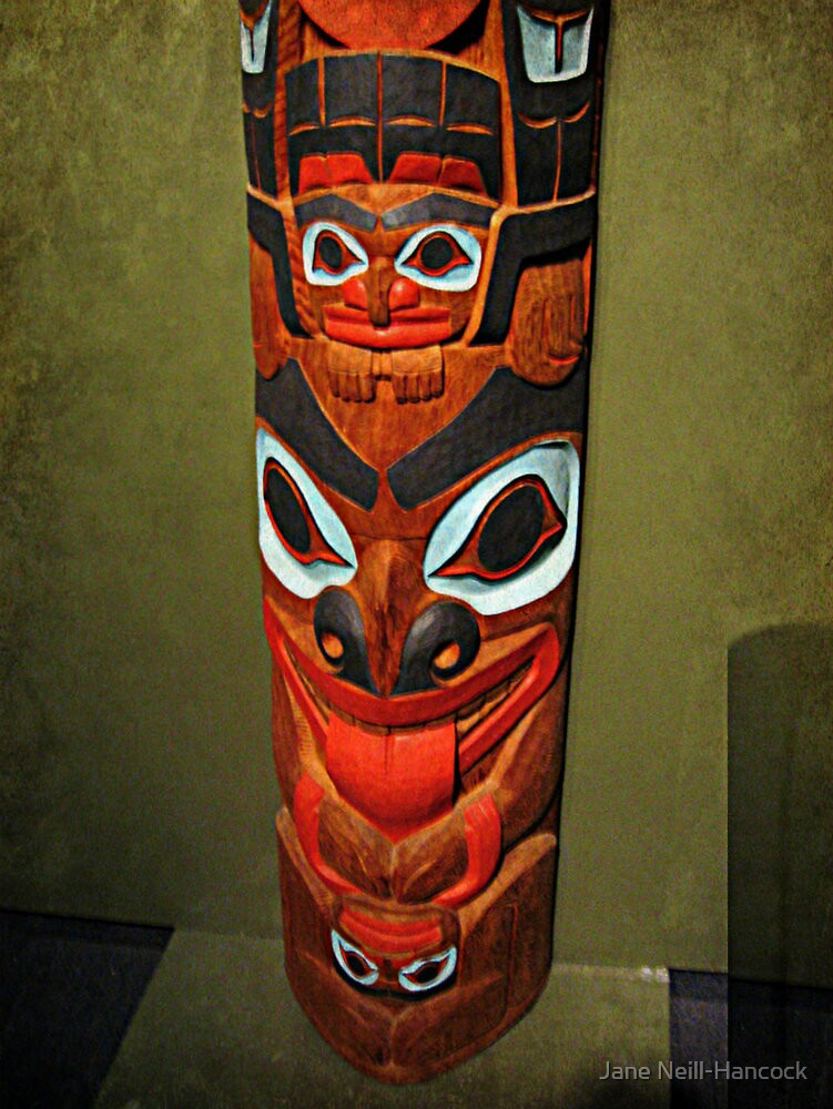 North American Totem Pole by Jane Neill-Hancock