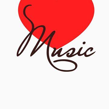 MUSIC HEART, Love Music, Classic, Dance, Electro, House, Techno, Hiphop de boom-art