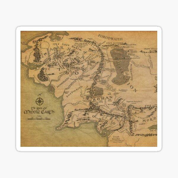 Mapa Pegatina