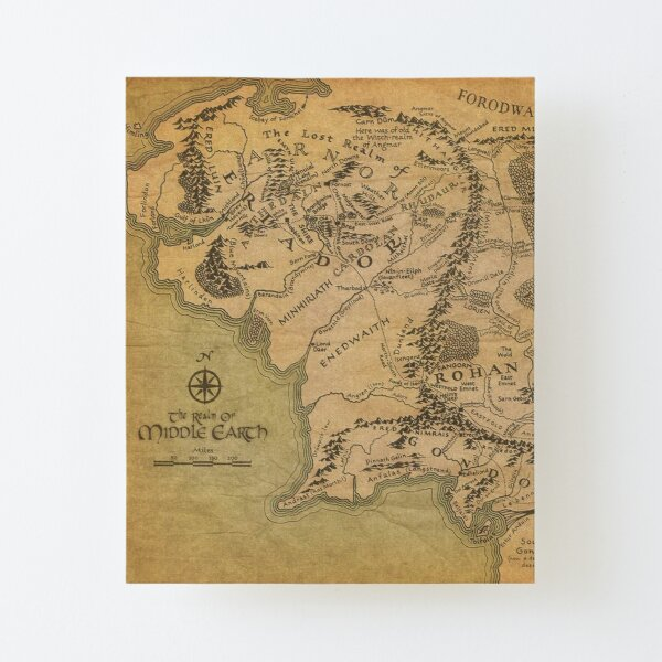 Map Canvas Mounted Print