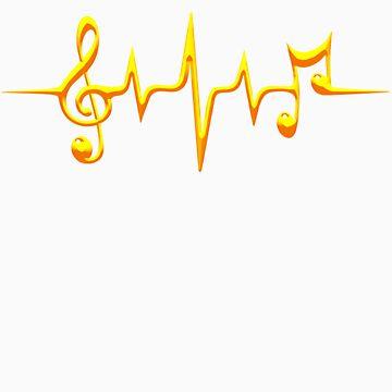 Música Pulse, Notas, Clave, Frecuencia, Ola, Sonido, Danza de boom-art