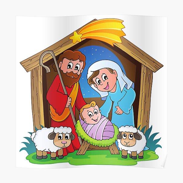 Nativity Scene - Christmas Poster