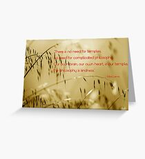The philosophy of kindness Greeting Card