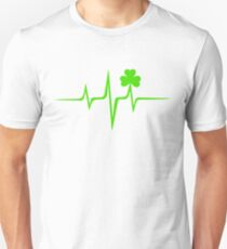 Music Pulse Irish, Frequency, Wave, Sound, Shamrock T-Shirt