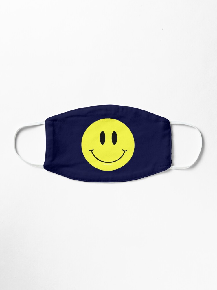Alternate view of Happy Smiley Face Mask