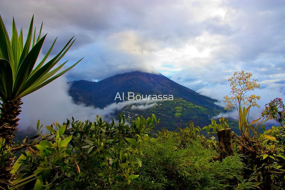 Tungurahua Volcano Shrouded In Cloud by Al Bourassa