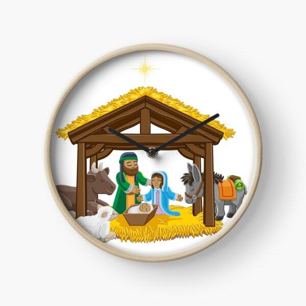 Nativity Scene - Christmas Clock