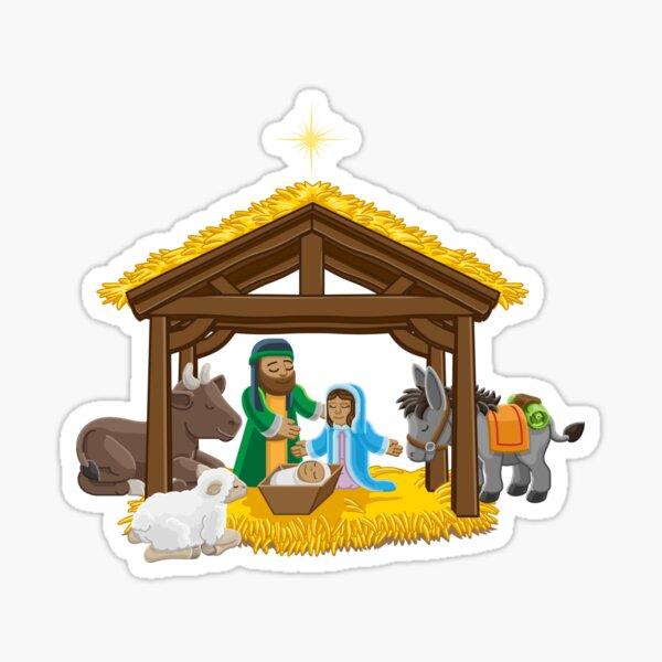 Nativity Scene - Christmas Sticker