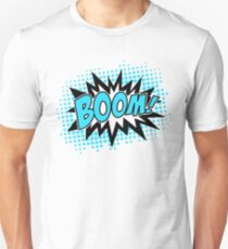 COMIC BOOM, Speech Bubble, Comic Book Explosion, Cartoon T-Shirt