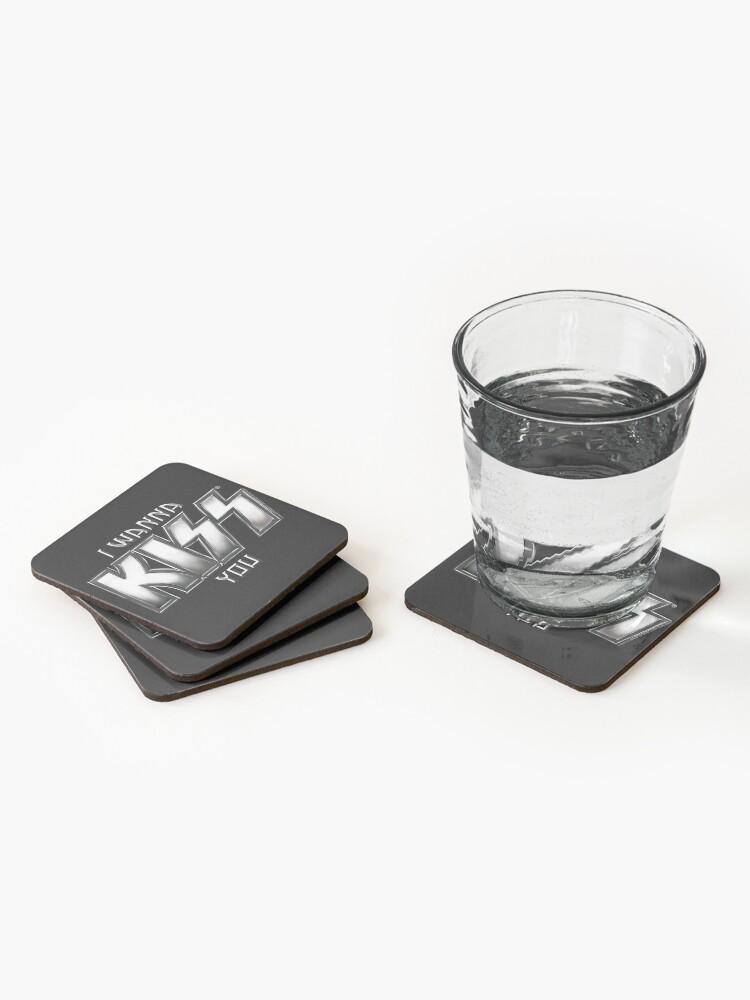 Alternate view of I wanna KISS you Coasters (Set of 4)