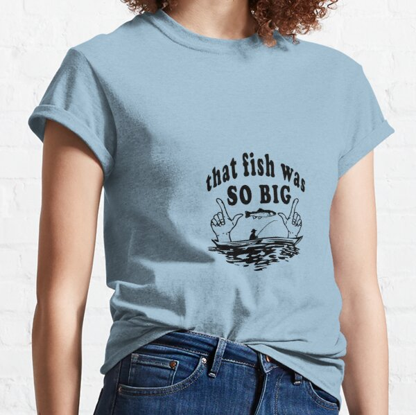 Keep Calm And Carry On Fishing WOMENS T-SHIRT Fish Tee Top Funny birthday gift