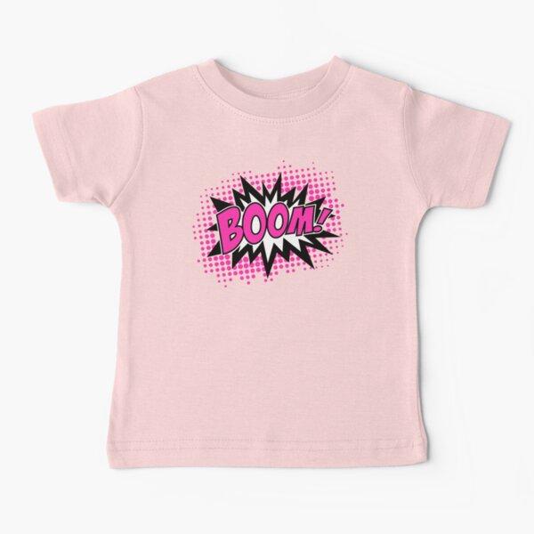 COMIC BOOM, Speech Bubble, Comic Book Explosion, Cartoon Baby T-Shirt