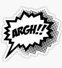 COMIC ARGH! Speech Bubble, Comic Book Explosion, Cartoon Sticker