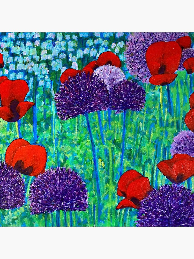 Poppies and alliums by MuloaniArt