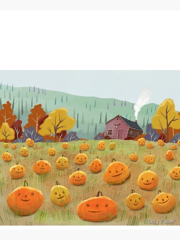 Happy Pumpkin Field by rudyfaber
