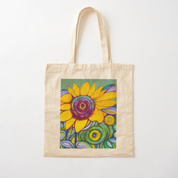Orange sunflower Cotton Tote Bag