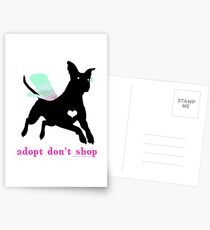 Adopt Don't Shop! Postkarten