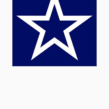 White Star Open on Blue-Sticker Only by VeritasEst