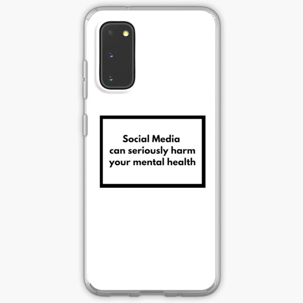 Social Media can seriously harm your mental health Samsung Galaxy Soft Case