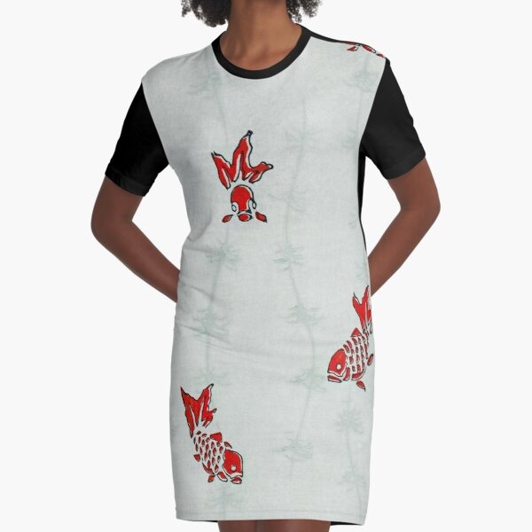 Little fishes Graphic T-Shirt Dress
