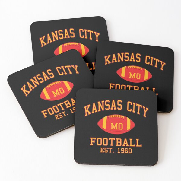 Kansas City Football Coasters (Set of 4)