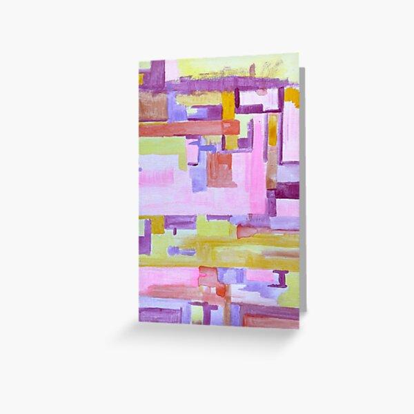 Pink grid Greeting Card