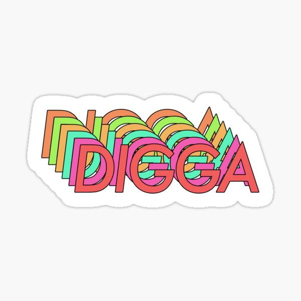 DIGGA Sticker