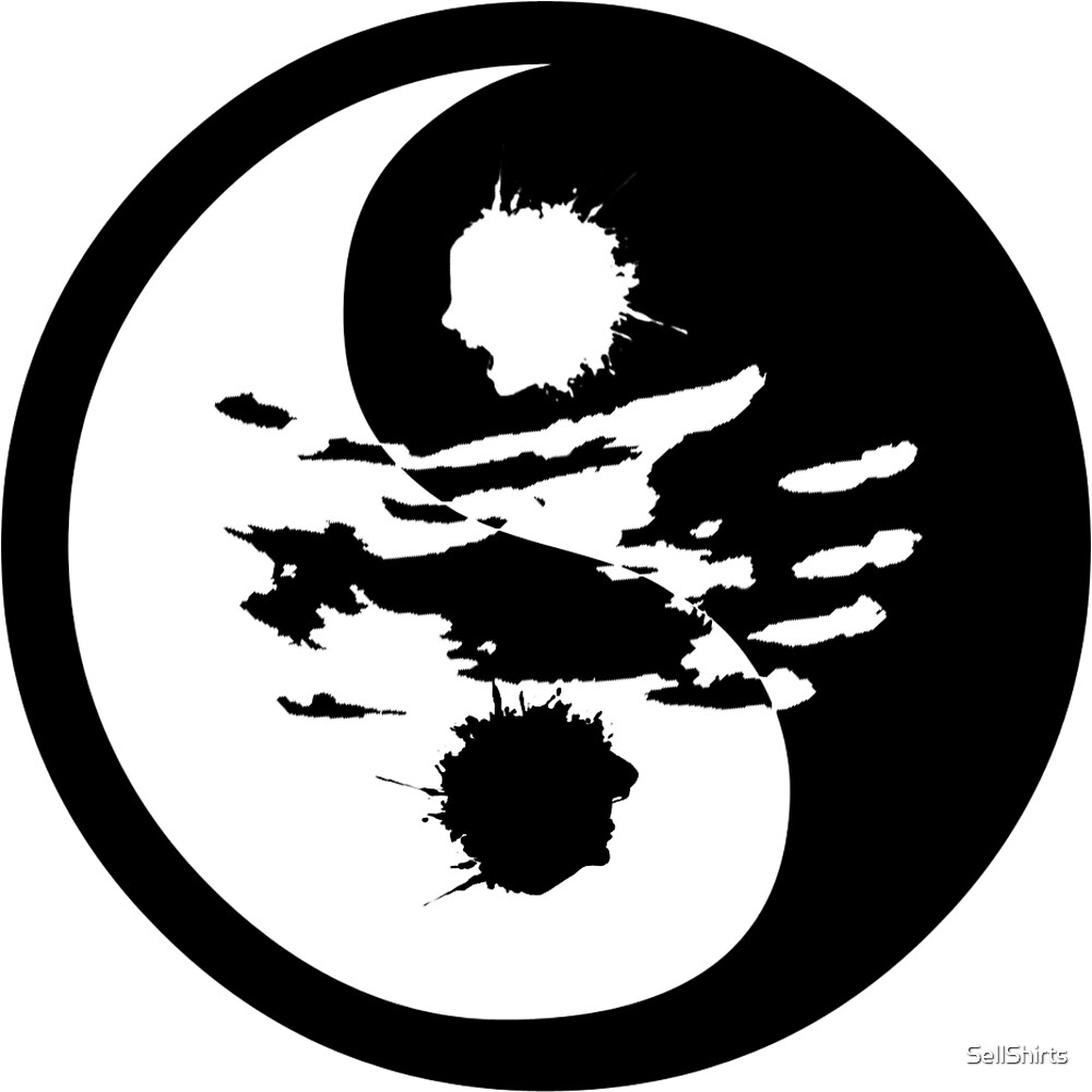 Whats Right & Wrong Is Blurred Ying-Yang by SellShirts
