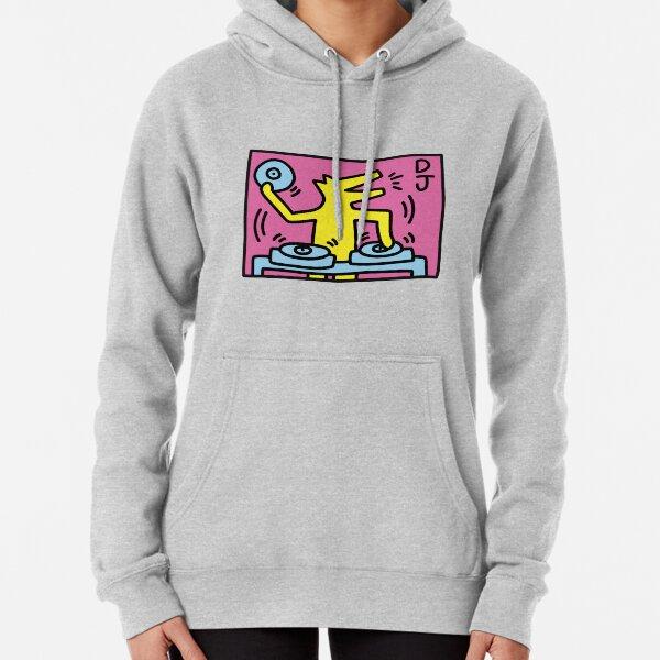 Keith Haring DJ-Figure! Pullover Hoodie