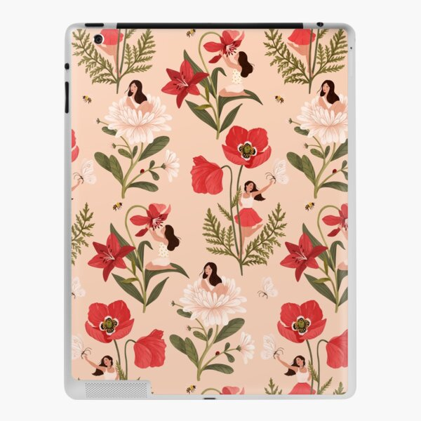 Flower Girls - pink iPad Skin