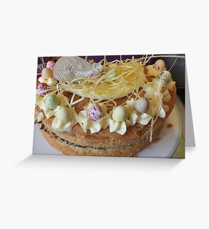 Easter cake. Greeting Card