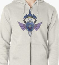Master Sword - Hylian Shield Aegislash Zipped Hoodie