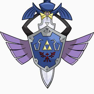 Master Sword - Hylian Shield Aegislash by mootypwns