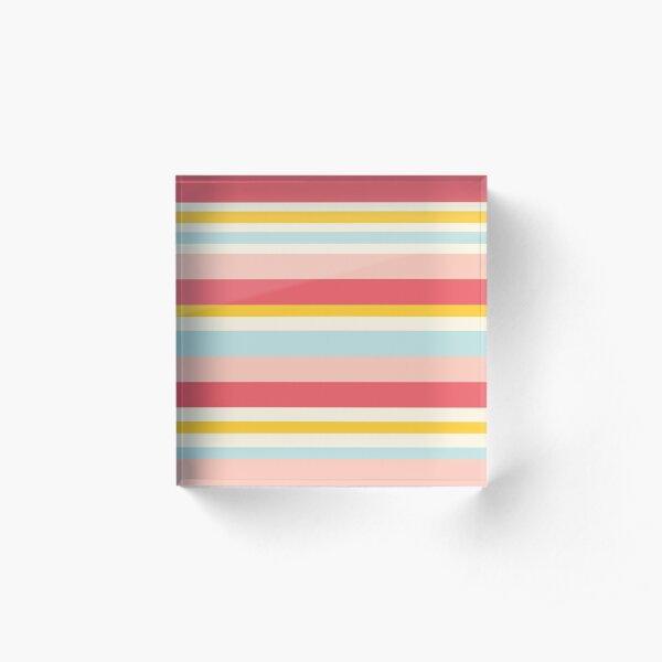 Deckchair stripes Acrylic Block