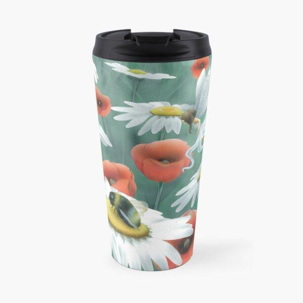 Poppies and Daisies Travel Mug