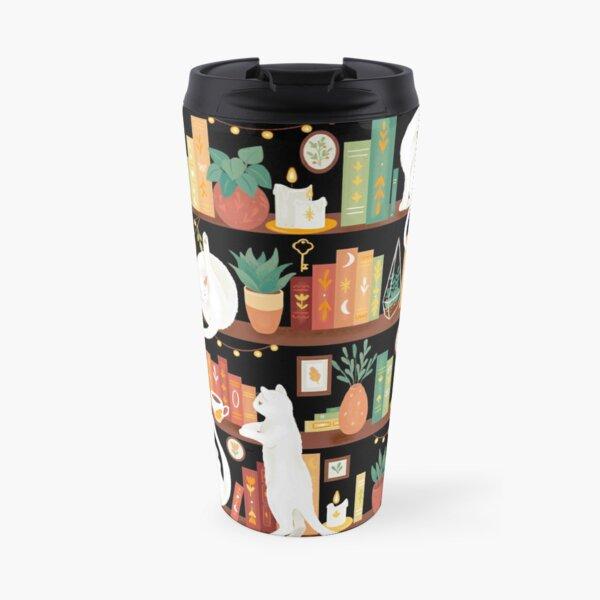 Library cats 2020 - night Travel Mug