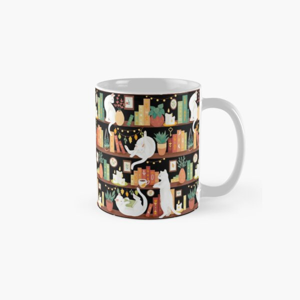 Library cats 2020 - night Classic Mug