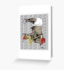 Latino Bull with Jordans Greeting Card