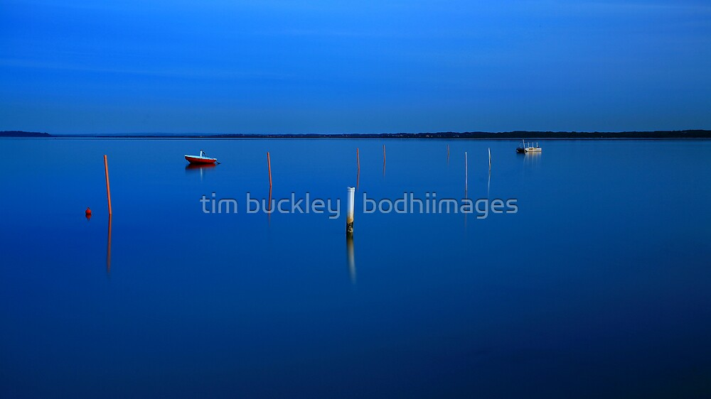 autumn, anderson inlet. gippsland coast, victoria. by tim buckley | bodhiimages