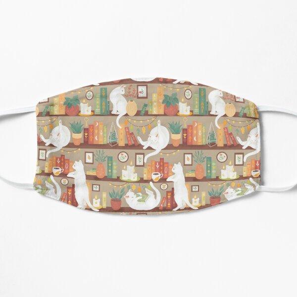Library cats 2020 - soft pastel shade Flat Mask