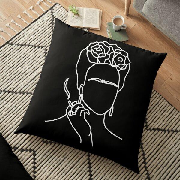 Frida kahlo smoking cigarette Floor Pillow